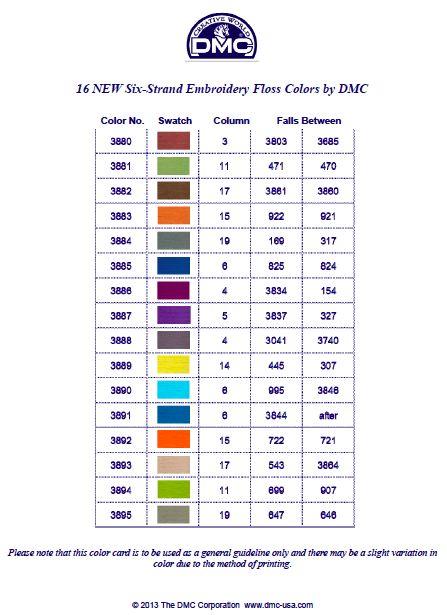 Dmc Floss Conversion Chart Timiznceptzmusic